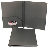 JAM Paper® Plastic Clasp Folder Grey, Sold Individually