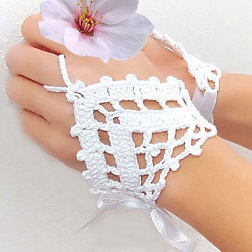 Ethnic Anklet Bracelet Crochet Barefoot Sandals Foot Jewelry Accessory Gift-07