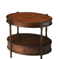 Masterpiece Two-Tier Oval Accent Table
