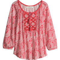 Embroidered Top - from H&M