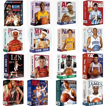 Many Choice NBA All Stars Collection Playing Cards, Basketball/Soccer Cards Players Poker