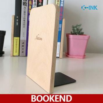 Wood Bookends , Wooden Desk Book Organizer , Office Book Shelf