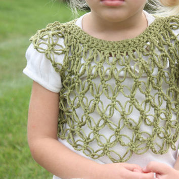 Girl Clothes Pattern Crochet- Sweater, Shrug, Lovers Knot, Baby and Toddler Quick and Easy