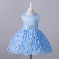 Baby birthday dresses 2017 Summer Princess Dresses Kids Clothes Floral Tutu for Baby Girls Dress birthday party custumes free