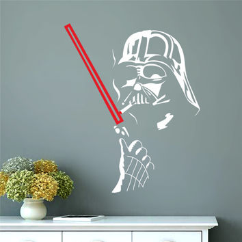popular Star War robot soldier hot movie poster Darth Vader home decal wall stickers for kids rooms decorative boys gift