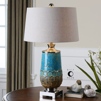 Manzu Blue Ceramic Table Lamp