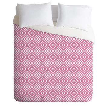 Lisa Argyropoulos Diamonds Are Forever Blush Duvet Cover