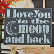 Luck O the Irish Sale Love you to the Moon and Back - Unique Canvas Art, wall decor, wall art, bedroom, nursery,