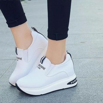 Quality Leather Casual Ladies Shoes and sneakers