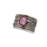 Vintage ring Pink with silver wire wrapped by InVintageHeaven