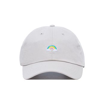 Embroidered Rainbowtastic Rainbow Dad Hat - Baseball Cap / Baseball Hat