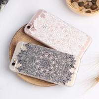 Beautiful Floral Henna Paisley Mandala Palace Flower Phone Cases Cover For Iphone 5 5S 6 6S 4.7 6Plus 5.5