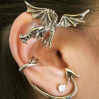 Bronze Guardian Dragon Ear Wrap