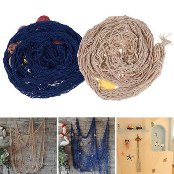 Sailor style Home Decoration Nautical Decorative Fishing Net Seaside Beach Shell Party Door Wall Decoration 1 x 2 M