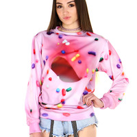 SPRINKLES DONUT SWEATER