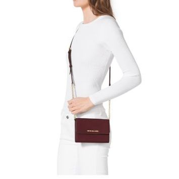 Jet Set Travel Saffiano Leather Smartphone Crossbody | Michael Kors
