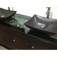 "Design Element Oasis 72"" Double Sink Vanity Set"