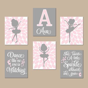 BALLERINA Wall Art,Ballerina Theme Decor,Ballerina Bedroom,Baby Nursery Decor,Ballerina Quotes,Dance Sparkle,CANVAS or Prints,Set of 6