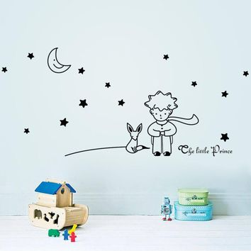 New Qualified Stars Moon The Little Prince Boy Wall Sticker Home Decor Wall Decals dec19