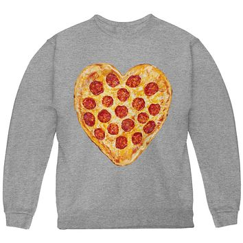 Pepperoni Pizza Heart Youth Sweatshirt