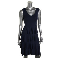 Style & Co. Womens Tiered Sleeveless Casual Dress