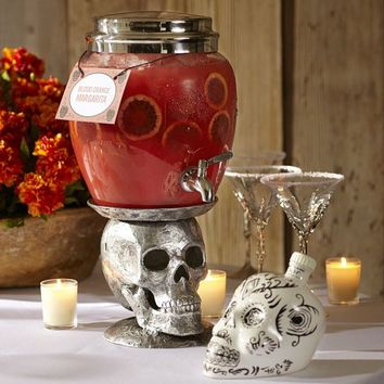 Skull Drink Dispenser Stand