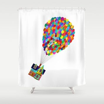 Disney's UP House Shower Curtain by Foreverwars