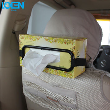 Hot Selling Black Tissue Paper Box Holder Auto Accessories Paper Napkin Seat Back Bracket Car Styling Car Interior Accessories