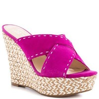 Guess Shoes Laine - Dark Pink Suede