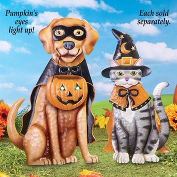 LED Lighted Halloween Animal Yard Stakes