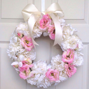 Front door wreaths silk flower wreaths baby shower gifts wreaths for door bridal shower gifts door decor spring door wreaths home decoration
