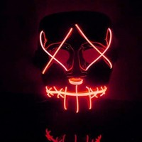 Halloween Mask LED Light Up Funny Mask From The Purge Election Year Great For Festival Cosplay Halloween Costume