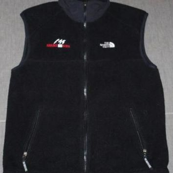 Vintage Men's THE NORTH FACE Black Fleece VEST Sz. M Jacket Boulder Ski Deals