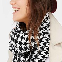 Houndstooth Eternity Scarf- Black Multi One