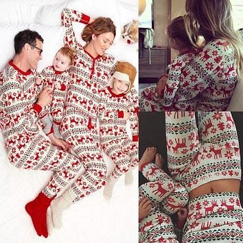 Fashion Christmas Deer Top Sweater Pants Trousers Set Two-Piece