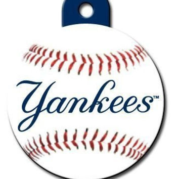 Officially Licensed MLB New York Yankees Circle Pet ID Tag