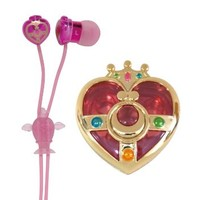 Bandai Sailor Moon Compact Case Packed Earphones Cosmic Heart SLM-21A