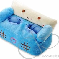Sofa Plush Cell Phone Stand Holder for iPhone 6 / iPhone 5S / iPhone 5 - Blue