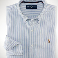 Classic-Fit Striped Oxford
