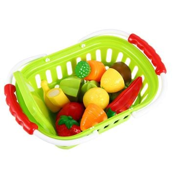 13-Piece  Fruits and Vegetables Set with Basket