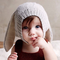 Baby Bunny Soft Knitted Beanie