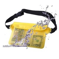 100% Waterproof Pouch Waist Bag Pouch Beach Pouch with Adjustable and Extra-Long Belt Sport Swimming Beach Essential Accessories