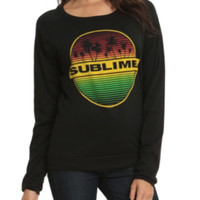 Sublime Palm Trees Long-Sleeved Girls Shirt
