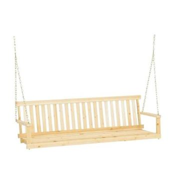 Jack Post, Jennings 5 ft. Traditional Wood Porch Patio Swing, H-25 at The Home Depot - Tablet