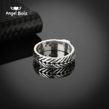 Hot Sale Ring for Men Male Ancient Silver Chain Retro Style Gothic Viking Eternity Biker Buddha Rings Jewelry Fingdings
