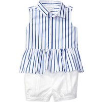 Ralph Lauren ChildrenswearInfant Girls' Stripe Top & Bloomers Set - Sizes 3-12 Months