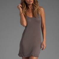 Enza Costa Tissue Jersey Tunic Layer Tank in Carbon from REVOLVEclothing.com