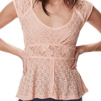Free People Besties Lace Tee | Nordstrom