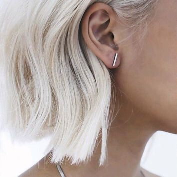AG Minimalist Bar Earrings