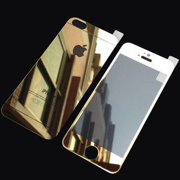 Gold iPhone 5s 6 6s Plus Toughened Glass Screen Protector Gift-170